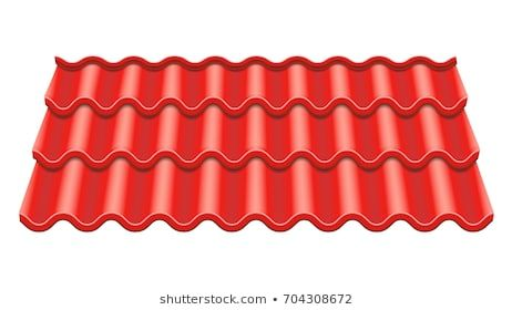 Red Corrugated Tile Vector Element Of Roof Ceramic Tiles Fragment Of Roof Illustration In 2020 Vector Tile Repair Stock Photos