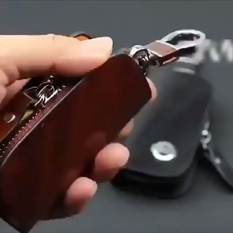 50% OFF Car Logo Leather Wood Texture Car Key Case