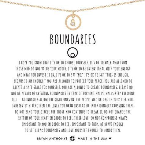 Boundaries Necklace