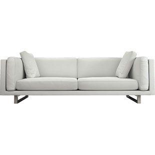 Modern Sofas Couches Allmodern White Leather Sofas Modern