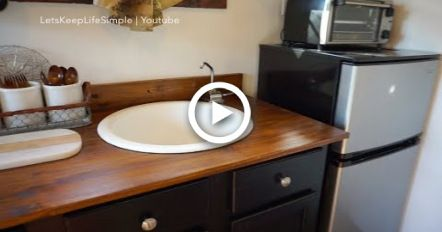 No Plumbing Quot Off The Grid Quot Sink Tiny House Tiny House Kitchen Diy Tiny House Rental Kitchen Makeover