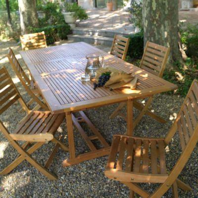 Table De Jardin En Bois Aland 180 230 X 100 Cm En 2020 Meubles De Jardin En Teck Chaise De Jardin Table De Jardin Bois