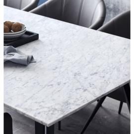 Buy Duomo Marble Rectangle Dining Table Domayne Au Rectangle Dining Table Dining Table Marble Dining Table