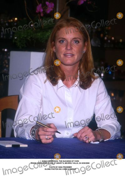 Sarah Ferguson, the Duchess of York Signs Wedgwood China at Geary's, Beverly Hills, CA 9/28/2000 Photo by Nina Prommer Globe Photos Inc.2000