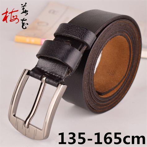 08cfdee80057b Aliexpress.com : Buy 2015 Famous Designer Brands High Quality Men'S Belt  Genuine Leather Big Size Belts For Men Casual Waist Strap Cintos Masculinos  from ...