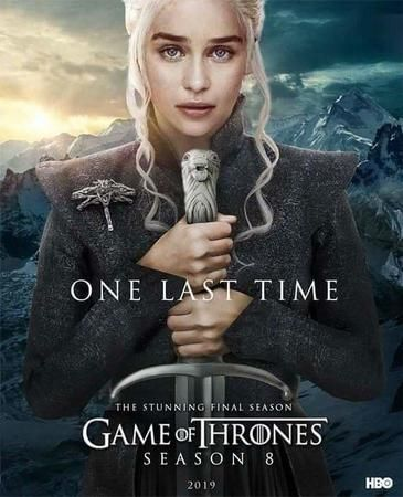 Game Of Thrones 2019 Season 08 Episode 01 720p Brrip Hindi Dubbed X264 X265 Game Of Thrones Poster Hbo Got Memes