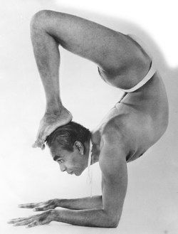 B K S Iyengar Interesting That His Wrists Are Off The Ground Iyengar Yoga Yoga Health Yoga Health Benefits