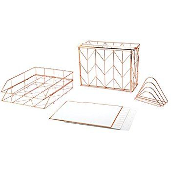 Amazon Com Sorbus Desk Organizer Set 5 Piece Desk Accessories Set Includes Pencil Cup Holder Letter Gold Office Supplies Hanging File Organizer Gold Office