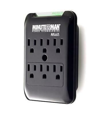 Ebay Link Ad Minuteman Slimline Series 6 Outlet Wall Tap Surge Suppressor 540j Mm Mms660s In 2020 Wall Taps Surge Protectors Wall Jacks