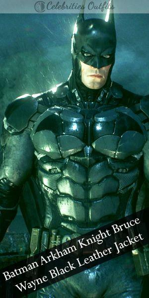BATMAN BLACK LEATHER JACKET ARKHAM KNIGHTS GAME COSTUME JACKET FOR MEN