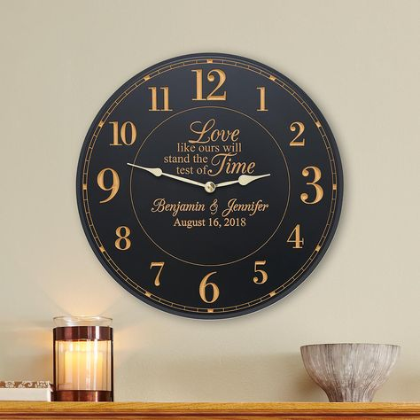 Personalized Test Of Time Wedding Clock Personal Creations Gifts