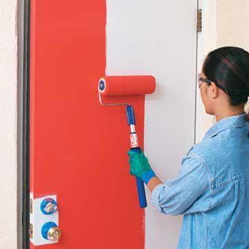 Expert Advice According To Brian Santos Selecting Paint Applicators 1 1 2 Inch Foam Roller 2 Heavy Duty P Painted Doors Home Design Diy Steel Doors Exterior