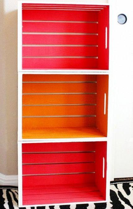 70 Ideas Wooden Milk Crate Decor Bookshelves Milk Crate Furniture Crate Decor Crate Furniture