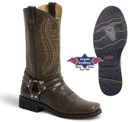 Bottes western homme bout carré Les bottes western Stars and