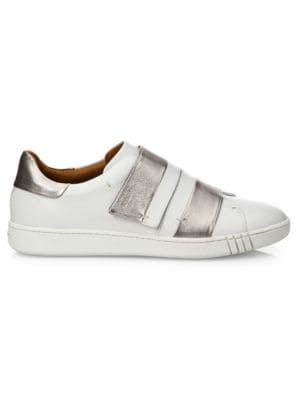 Bally Willet Leather Grip-tape Sneakers