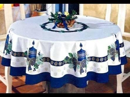 Resultado De Imagen Para Mantel Navideno Para Mesa Redonda Christmas Linen Drapery Designs Diy Chair Covers
