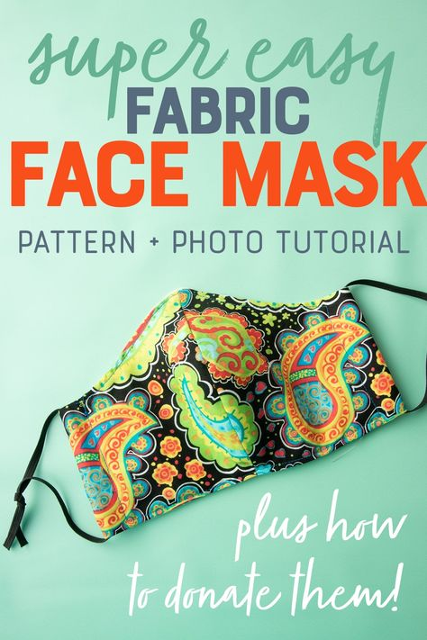The pattern for these fabric face masks is so simple, even the most novice of sewists can make them. The pattern for these fabric face masks is so simple, even the most novice of sewists can make them. Sewing Patterns Free, Free Sewing, Hand Sewing, Embroidery Patterns, Pattern Sewing, Sewing Hacks, Sewing Tutorials, Sewing Crafts, Sewing Tips