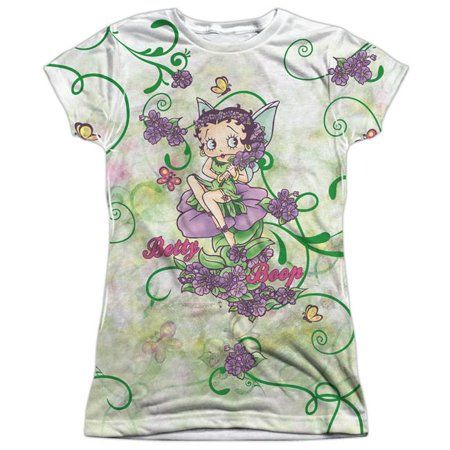 Shop for Betty Boop/Flower Fairy Short Sleeve Junior Poly Crew in White. Get free delivery On EVERYTHING* Overstock - Your Online Women's Clothing Store! Pretty Outfits, Cool Outfits, Pretty Clothes, Fashion Outfits, Shirt Sleeves, Cap Sleeves, Betty Boop T Shirt, Toddler Themes, Animated Cartoon Characters
