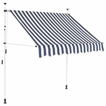 Outsunny 10 Ft W X 8 Ft D Fabric Retractable Standard Patio Awning Reviews Wayfair In 2020 Retractable Awning Patio Awning Awning Canopy