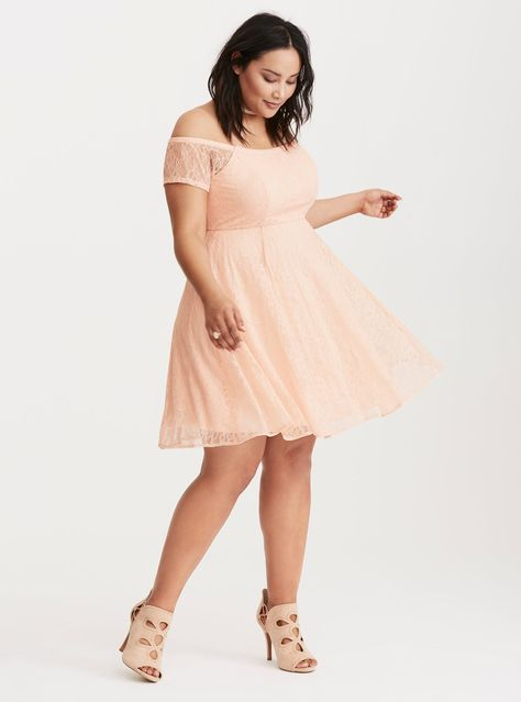 ded86846d02 Lace Off the Shoulder Dress  Plus Size Clothing   TORRID ...