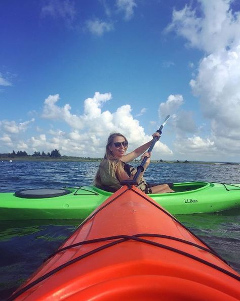Every voyage is better with a co-captain.  (Photo via Instagram: spaveee) L.L.Bean Kayaks