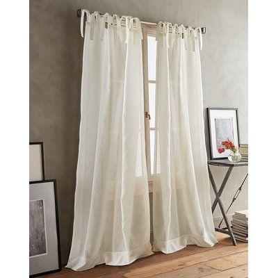 Dkny Paradox Tie Tabs Solid Sheer Curtain Drapes Sheer Curtain