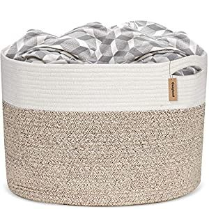 Cosyland Xxxl Cotton Rope Basket 19 7 X 19 7 X13 Baby Laundry Woven Storage Hamper Baskets Blanket Toys Towels Nursery Bin With Handle Crib Bedding Crib Be In 2020 Baby Laundry Nursery