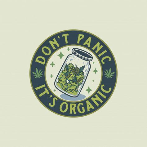 Vintage Cannabis Badge Hand Drawn Illustration
