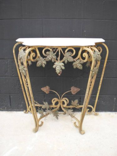 Peachy Antique Italian Hand Forged Iron Console Table Ebay Moveis Caraccident5 Cool Chair Designs And Ideas Caraccident5Info