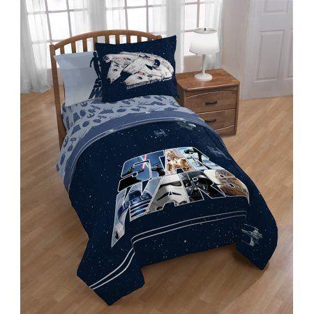 Star Wars 5 Piece Twin Full Bed Set Kid S Bedding Walmart Com Full Bedding Sets Star Wars Toddler Bed Bedding Sets