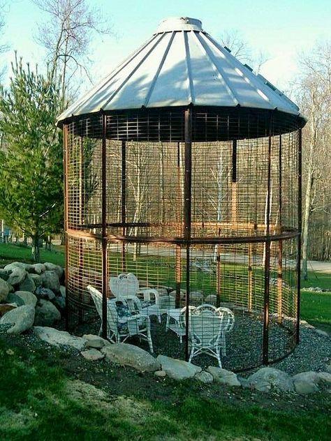 Corn crib gazebo... or chicken coop
