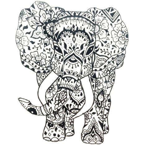 elephant adult coloring page  printable coloring book adult colouring printables