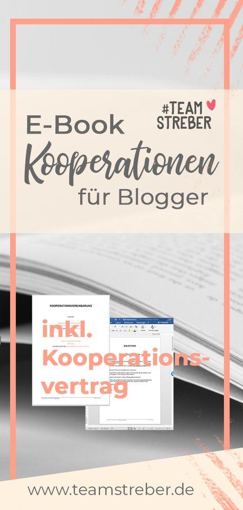 E Book Kooperationen Fur Blogger Blog Erstellen Blog Starten