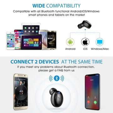 Mini Wireless Earbud Bluetooth 4 1 Headphone Business Earbud Portable Earphone With Mic Case Mpow Bluetooth Earpiece Car Bluetooth