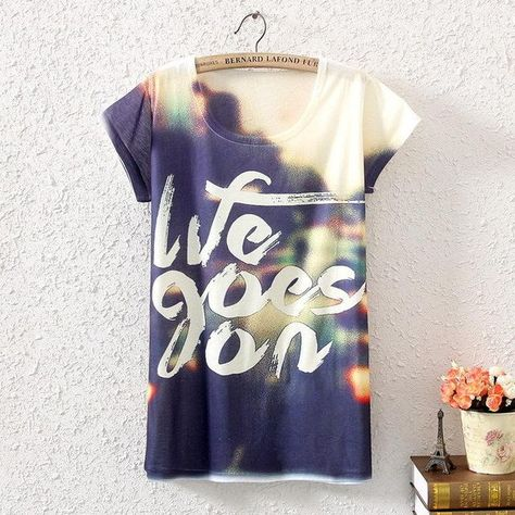 c94c1930 New Fashion Vintage Spring Summer Digital Printing Girl Lady Women's Short  Sleeve T-shirt Cotton Printed Tee T Shirts F
