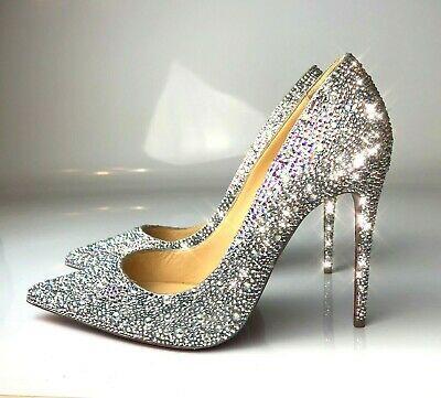 Christian Louboutin So Kate Swarovski Crystals Strassed Pumps Heels Euro 36 Wedding Shoes Heels Christian Louboutin So Kate Crystal Wedding Shoes