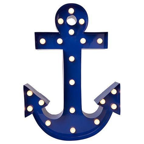 Marquee Anchor Light from Target for nautical themed nursery or toddler room.