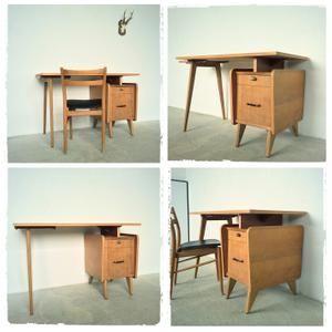 Bureau Vintage Pieds Compas Edition Sam Mobilier Decoration Vintage Decoration Maison