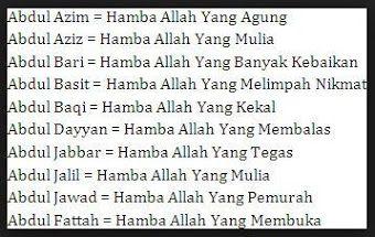 Gabungan Nama Anak Laki Laki Islami Dan Artinya 2 Dan 3 Kata