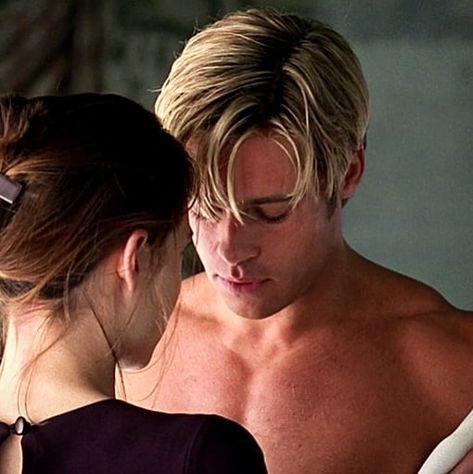 "Brad Pitt on Instagram: ""Brad Pitt as Joe Black/Death, and Claire Forlani as Susan Parrish in Meet Joe Black (1998) #BradPitt #actor #greatactors #hollywood…"""