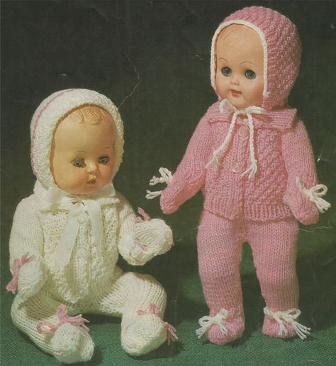 e70858ed9b53 Dolls Clothes Knitting Pattern PDF for 10