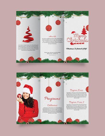 Free Christmas Brochure Template Word Doc Psd Apple Mac Pages Publisher Christmas Brochure Christmas Templates Free Free Brochure Template