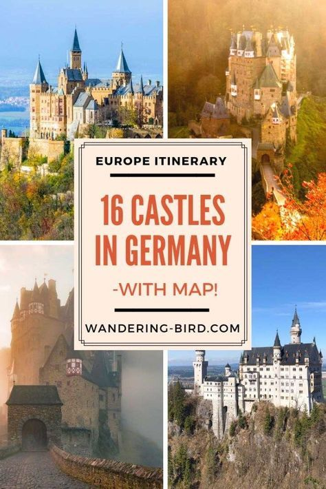 Map Of Germany Castles.16 Amazing Fairytale Castles In Southern Germany With Map