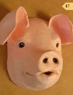 Pattern for a paper mache pig    Paper mache clay   Paper