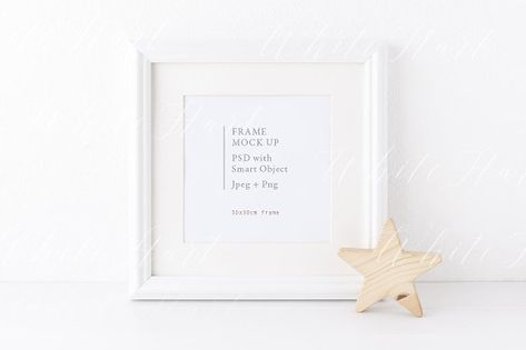 d0eb95e46f5 Square frame and star mock up by White Hart Design Co. on  creativemarket