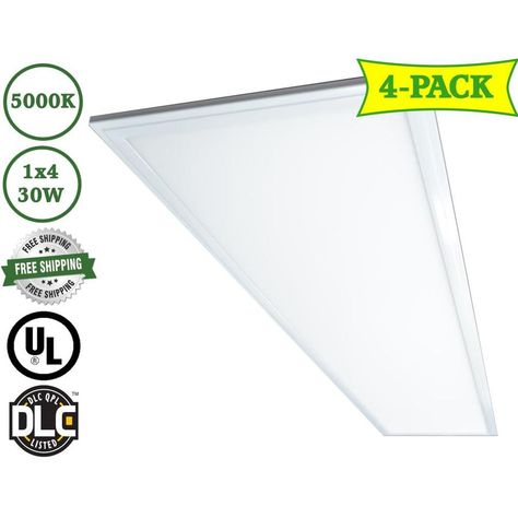 Led Trail 4 Pack Goldbeach Led Panel Light Led Troffer Actual 2 In X 12 In X 48 In 6011 P 30w 5000k In 2020 Led Panel Light Led Panel Led