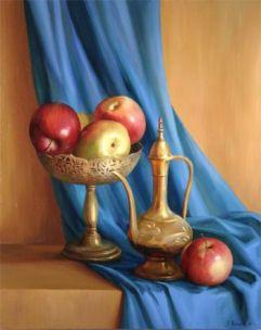 Evguenia Ioganov S Gallery Painting Art Apple