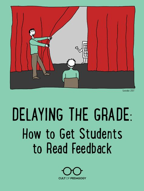 Delaying the Grade How to Get Students to Read Feedback is part of Cult of pedagogy - You spend hours marking and commenting on student work, and then they don't even read your feedback The solution is all in how you time it Teaching Writing, Teaching Strategies, Teaching Tips, Teaching English, Teaching Latin, Writing Lab, Teaching Techniques, Sentence Writing, Writing Process