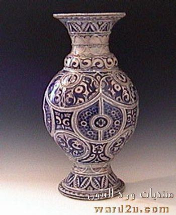 خزف فاس الازرق بصمة مغربية مميزة Fes Pottery Vase Decor Home Decor