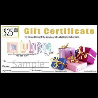 lularoe gift certificate template